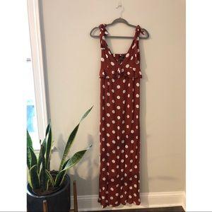 Dots maxi dress